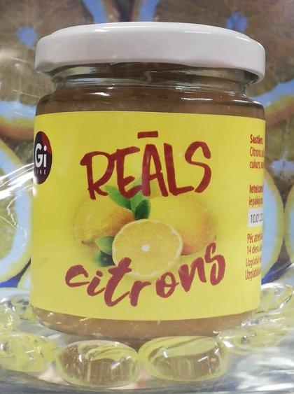 """Citrona + ingvera džems """"Reāls citrons ar ingveru"""""""